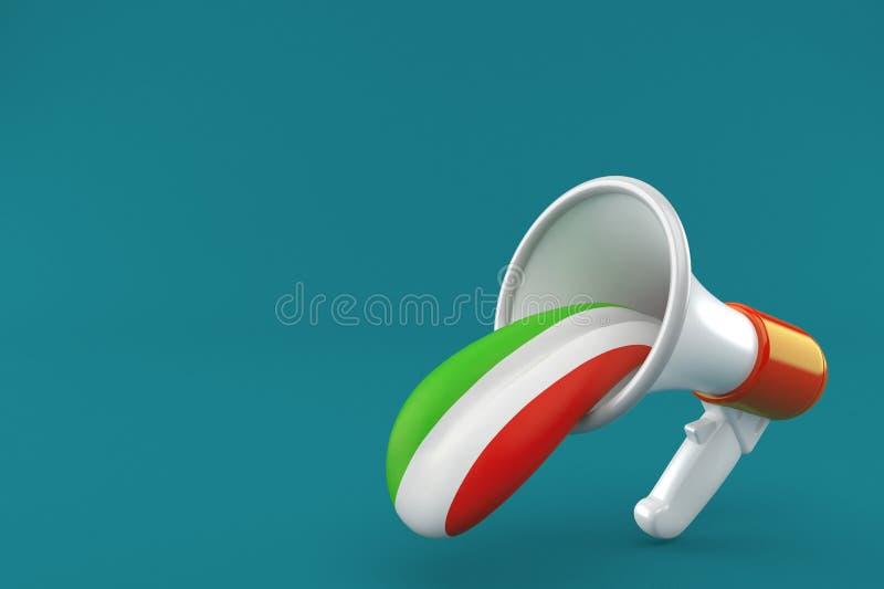 Megafoon met Italiaanse tong vector illustratie