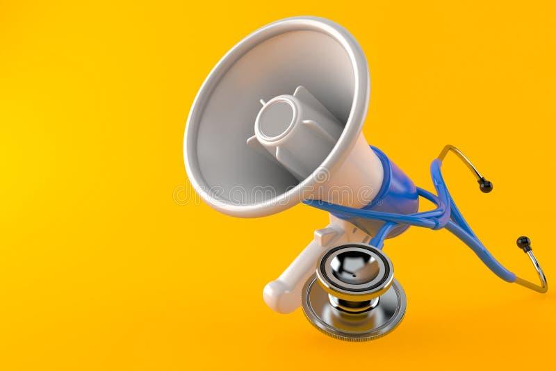 Megafoon met stethoscoop vector illustratie