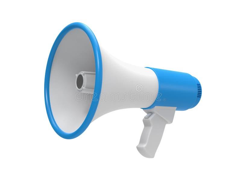 Megafoon op een wit wordt geïsoleerd dat stock illustratie