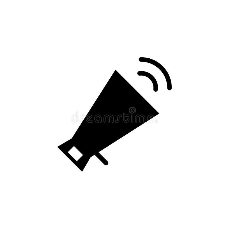 Megafoon, volumepictogram De tekens en de symbolen kunnen voor Web, embleem, mobiele toepassing, UI, UX worden gebruikt royalty-vrije illustratie