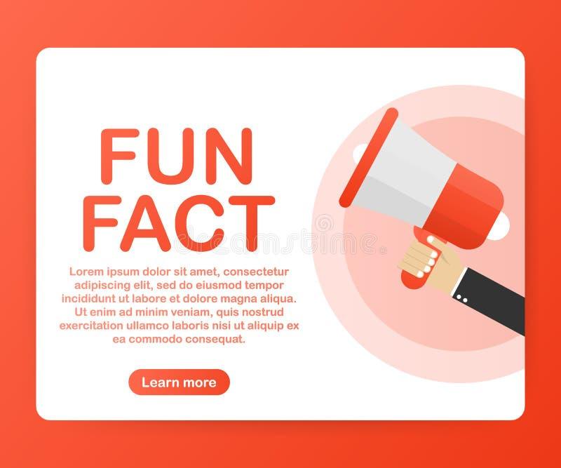 Megafoonhand, bedrijfsconcept met het feit van de tekstpret Vector illustratie vector illustratie