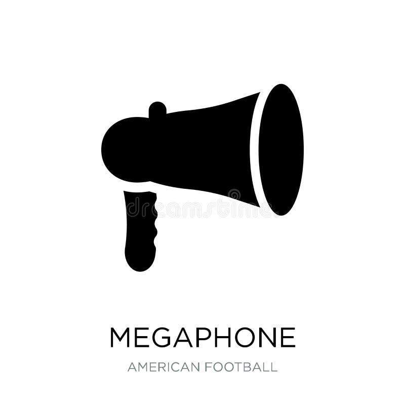 megafoonpictogram in in ontwerpstijl Megafoonpictogram op witte achtergrond wordt geïsoleerd die eenvoudige en moderne vlakte van vector illustratie