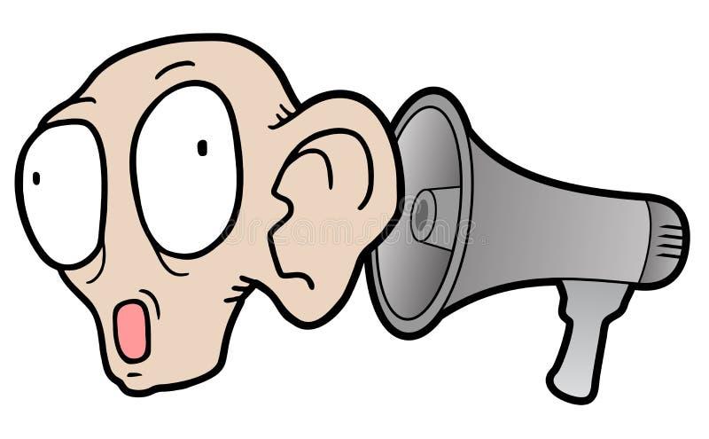 Megafoonschreeuw vector illustratie