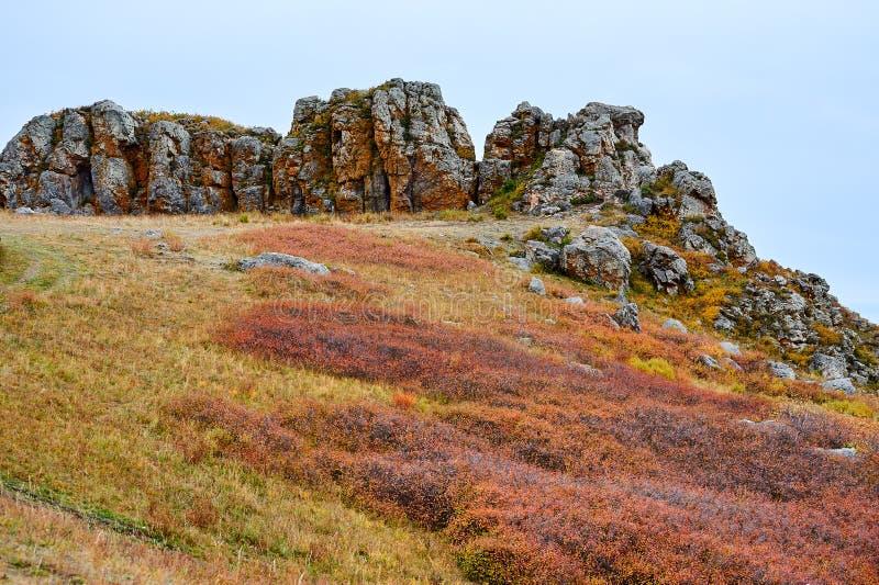 Megalit na górze zdjęcie royalty free