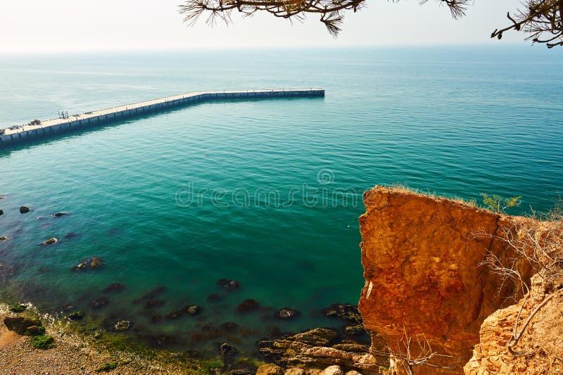 Megalit w nadmorski zdjęcie royalty free