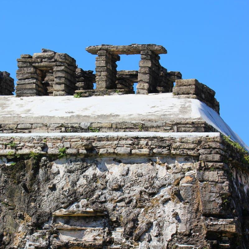 Megalit w Palenque, Meksyk. obraz stock