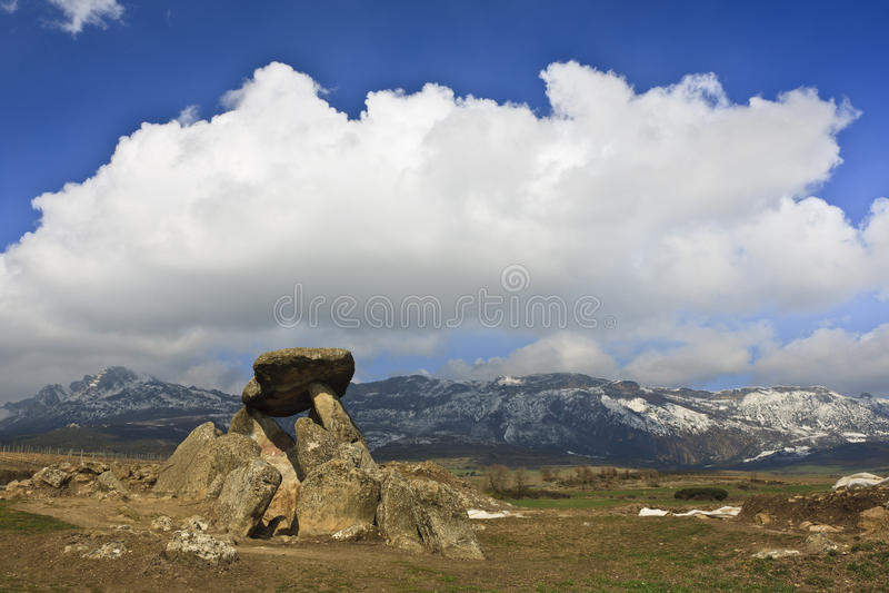 megalithic τάφος στοκ εικόνες
