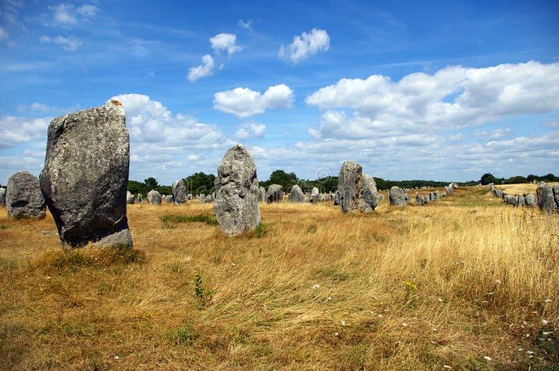 Megaliths de Carnac imagens de stock