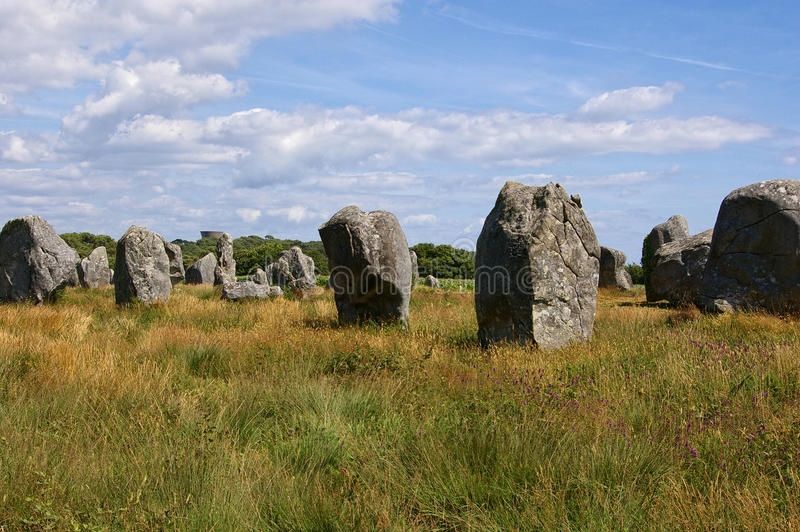 Megaliths de Carnac fotografia de stock