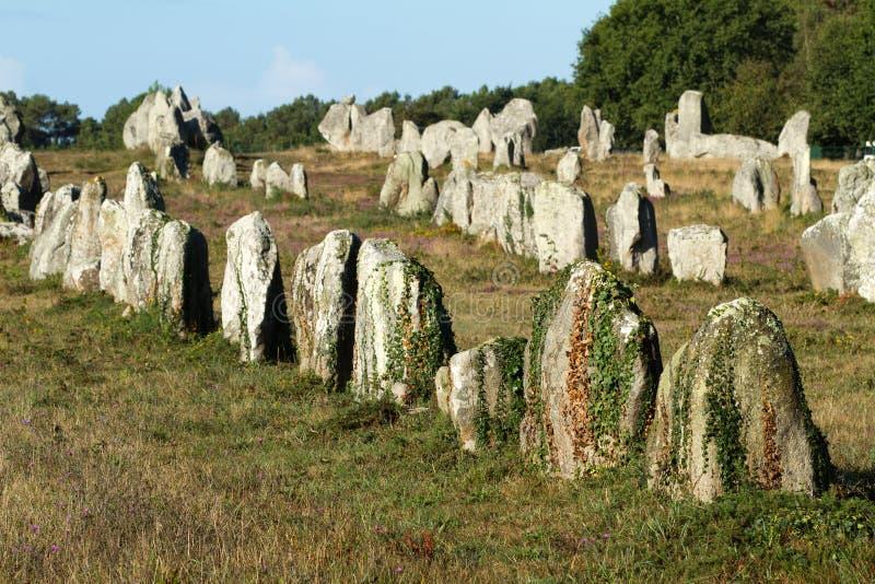 Megaliths de Carnac imagem de stock royalty free