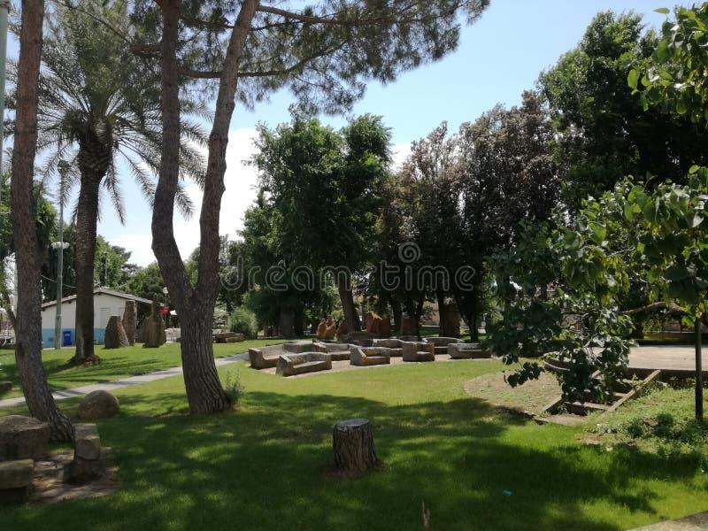 Megalitico-Garten San Sperate Sardinien stockfotos