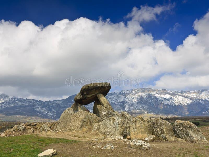 megalityczny grobowiec fotografia royalty free