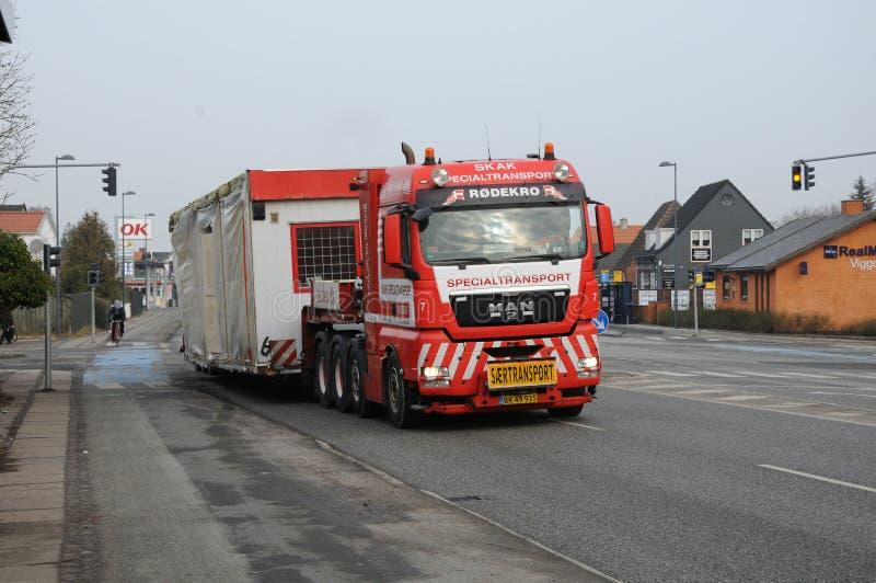 MEGALOAD-TRANSPORT IN KOPENHAGEN DÄNEMARK lizenzfreies stockfoto