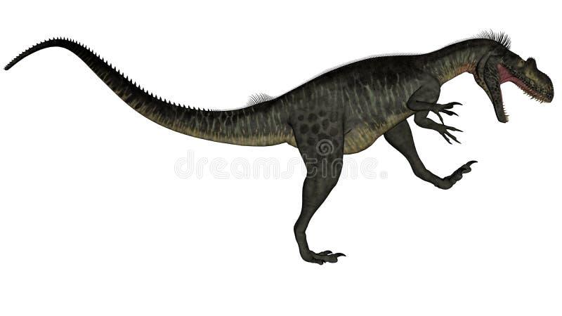 Megalosaurus dinosaur - 3D render royalty free illustration