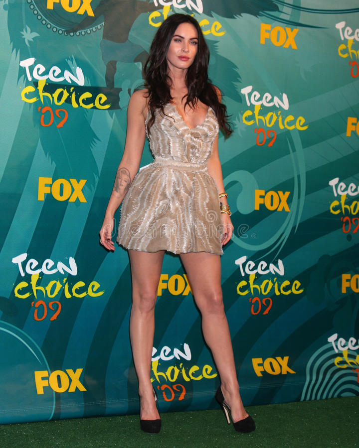 Megan Fox. In the Press Room at the Teen Choice Awards 2009 at Gibson Ampitheater at Universal Studios, Los Angeles, CA on August 9, 2009 .2009 Kathy Hutchins royalty free stock photo