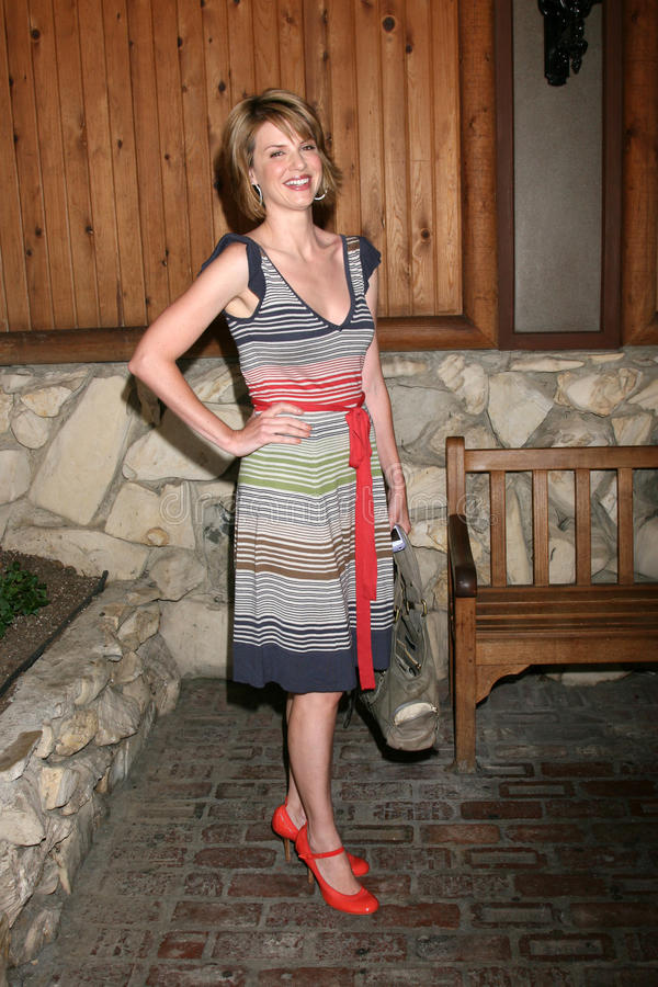 Megan Ward. Arriving at the annual General Hospital Fan Club Luncheon at the Sportsman's Lodge in Studio City, CA on July 12, 2008 royalty free stock image