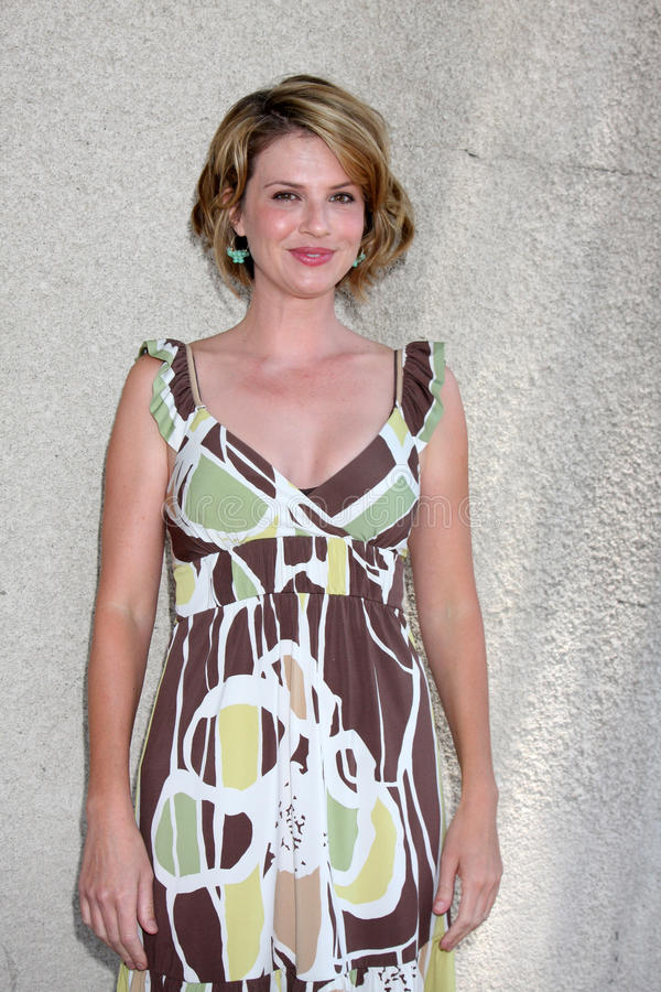 Megan Ward. Arriving at the General Hospital Fan Club Luncheon at the Airtel Plaza Hotel in Van Nuys, CA on July 18, 2009 stock photography