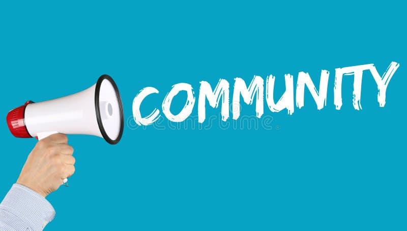 Megapho social d'ordinateur de groupe de réseau de media de mise en réseau de la Communauté photographie stock libre de droits