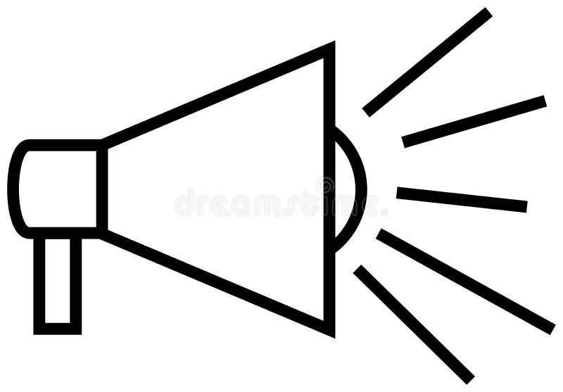 Megaphone περιλήψεων εικονίδιο ελεύθερη απεικόνιση δικαιώματος