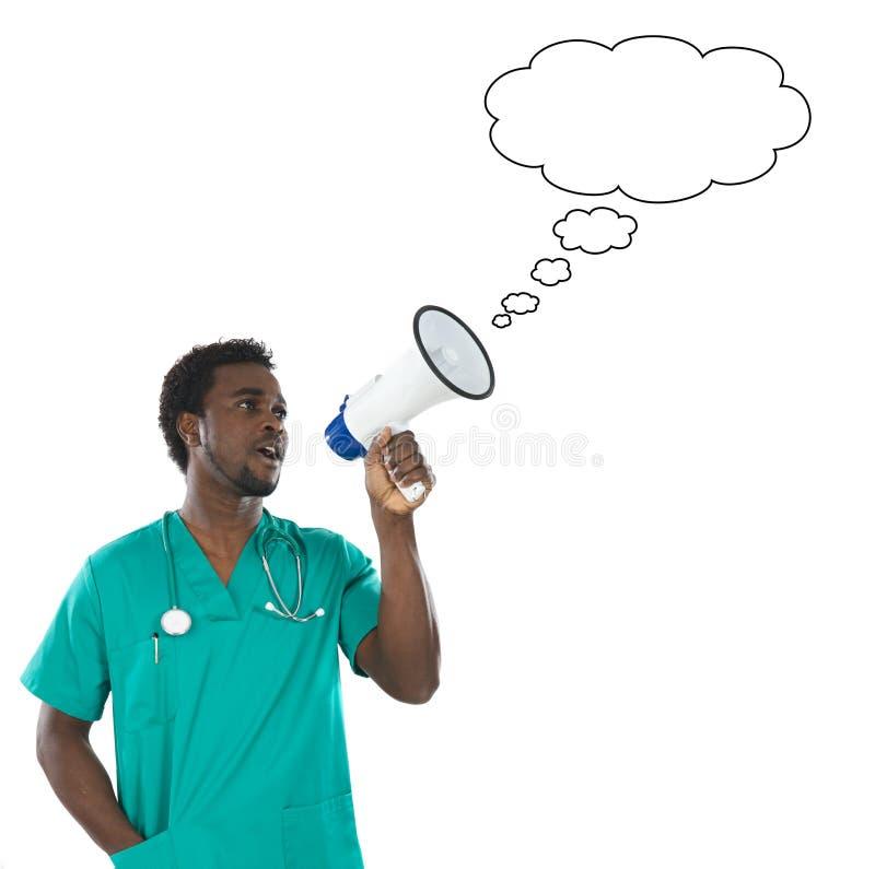 megaphone γιατρών νεολαίες μορίων στοκ φωτογραφία με δικαίωμα ελεύθερης χρήσης