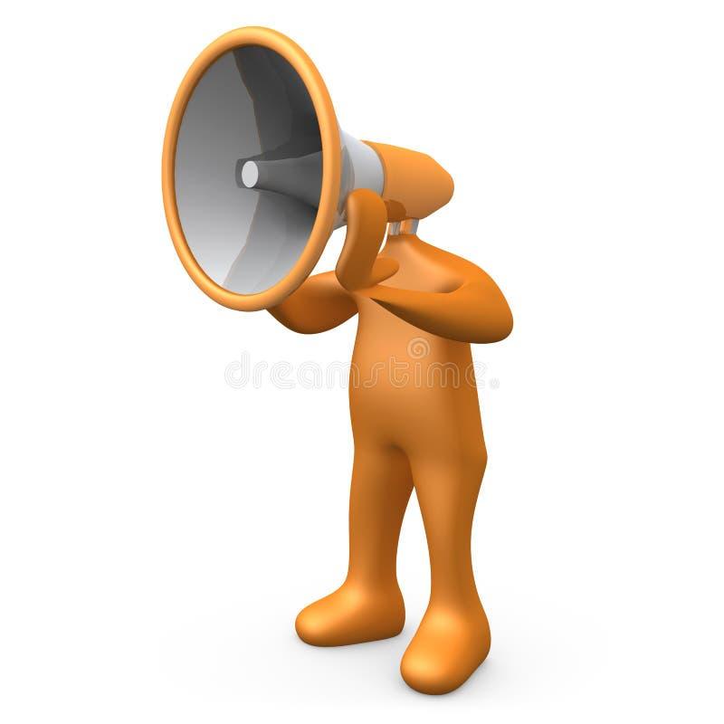 megaphone πρόσωπο απεικόνιση αποθεμάτων