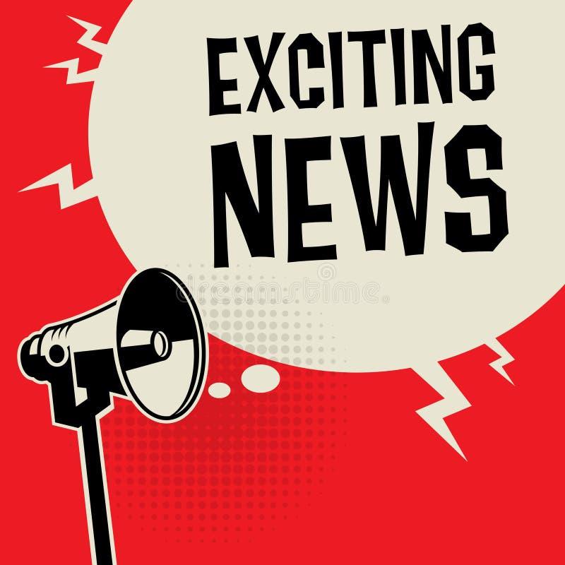 Megaphone συναρπαστικές ειδήσεις επιχειρησιακής έννοιας απεικόνιση αποθεμάτων