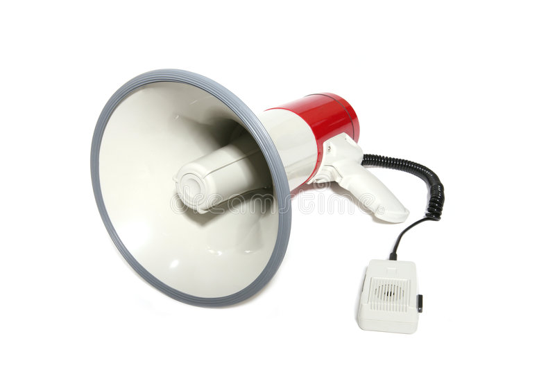Megaphone. Isolated megaphone over a white background royalty free stock photo