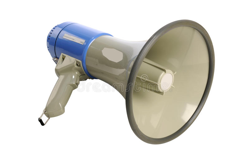 Megaphone. Isolated over white background - With Clipping Path stock photo