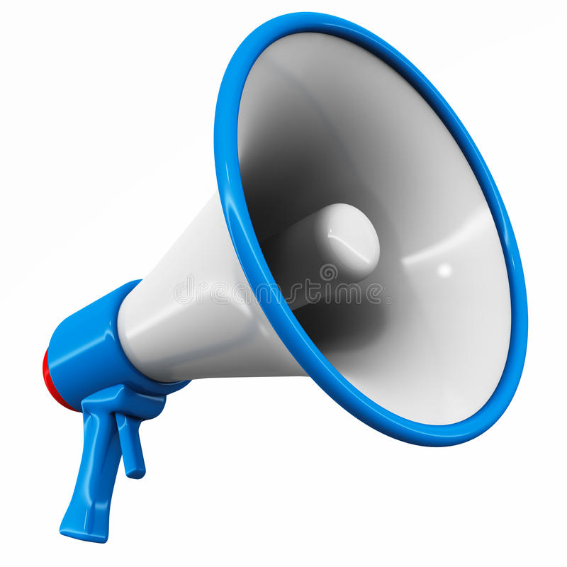 Megaphone royalty free illustration