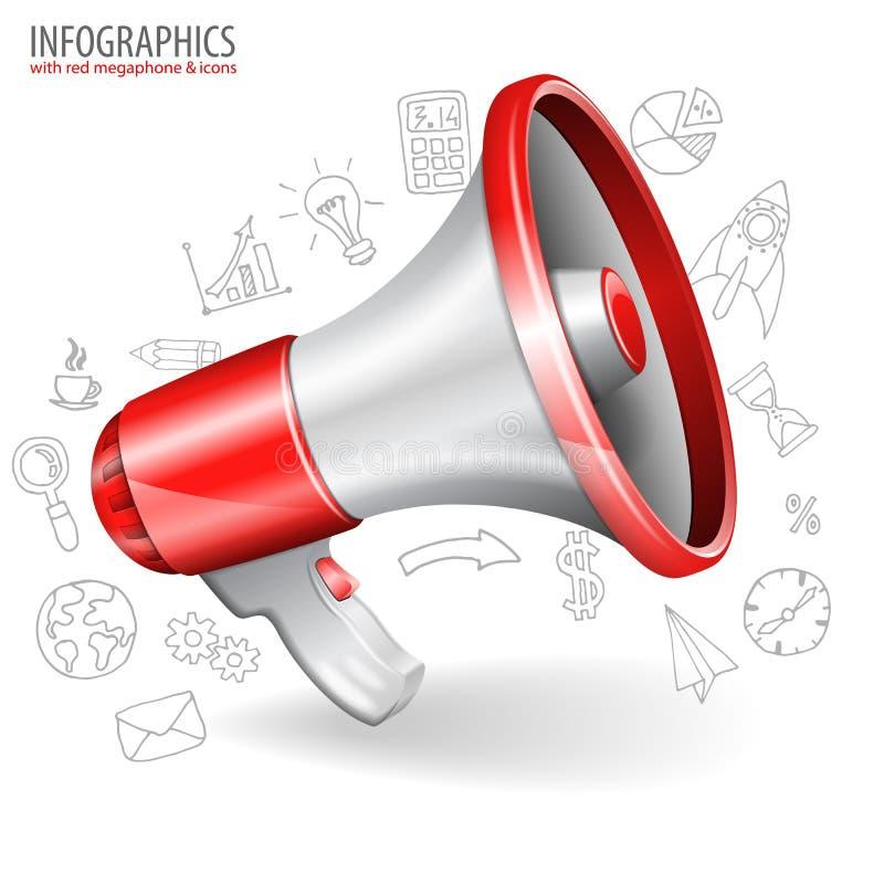 megaphone ilustração do vetor
