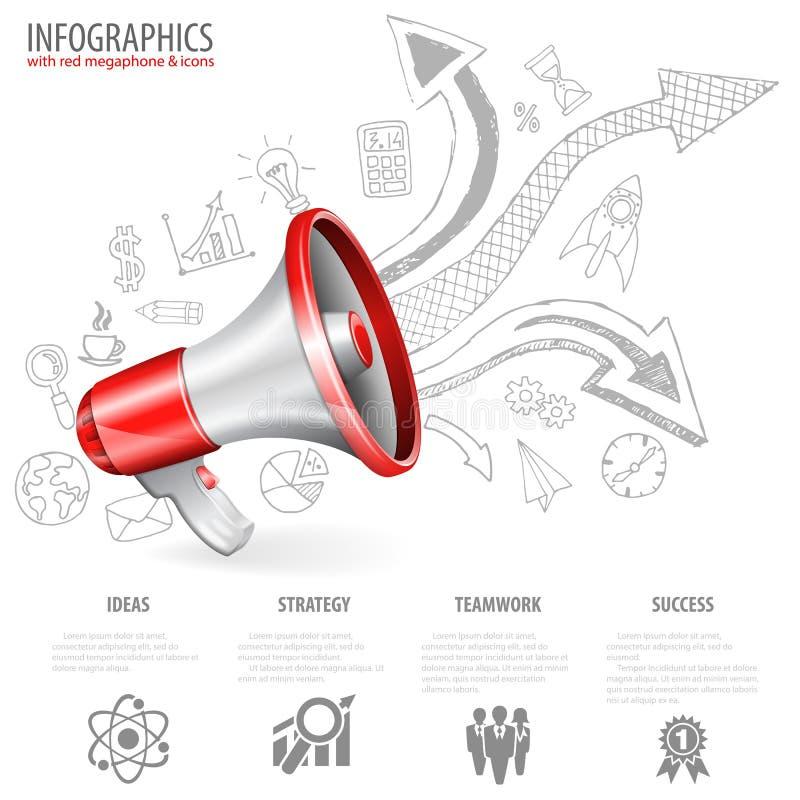 megaphone ilustração stock