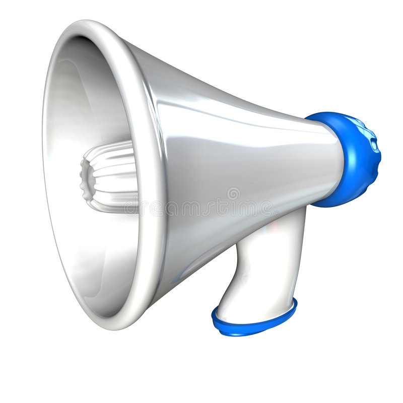 Download Megaphone stock illustration. Image of loud, public, music - 7170616