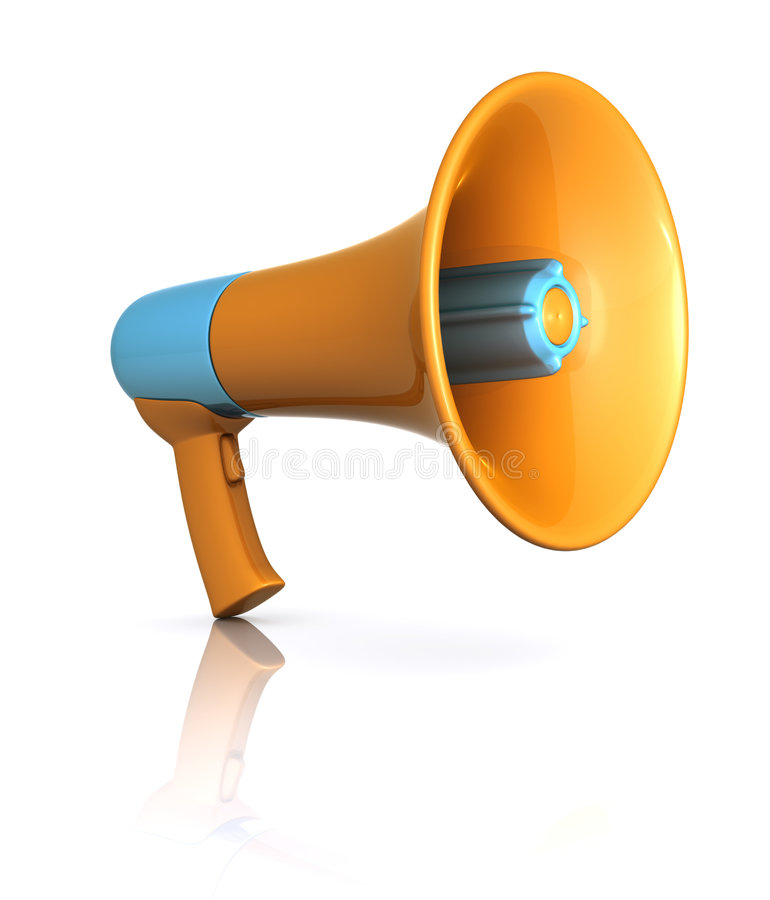 Download Megaphone stock image. Image of announcement, shouting - 8529151
