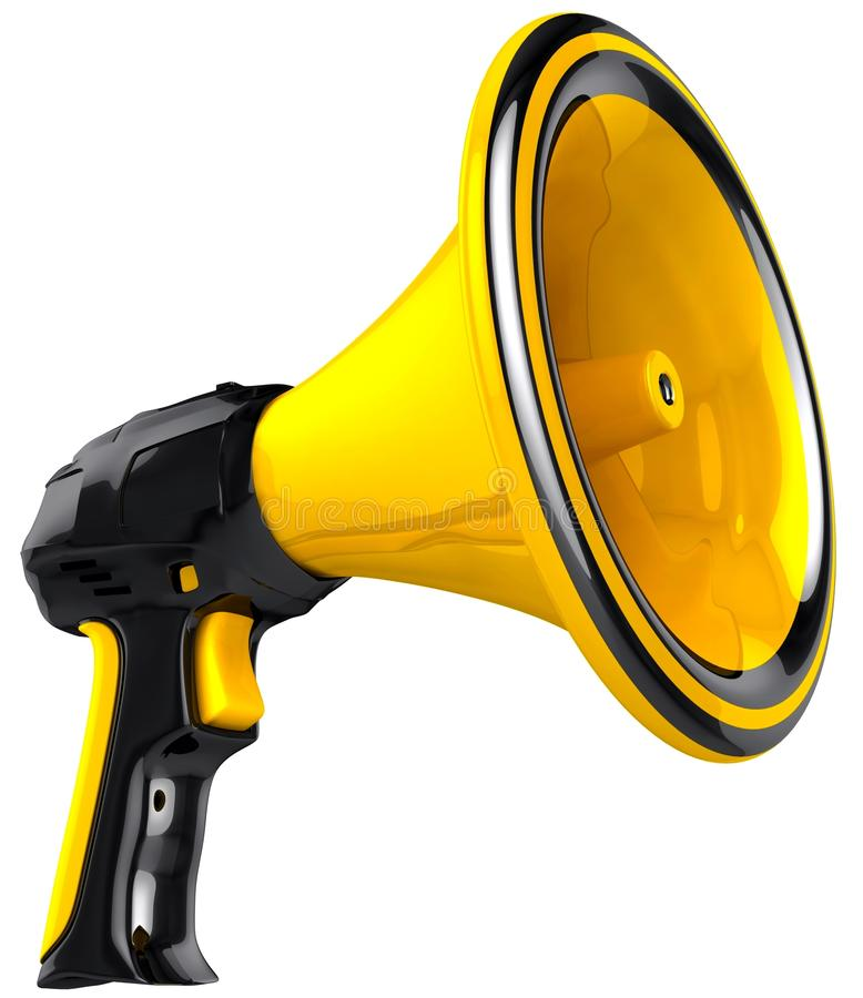 Download Megaphone blog announce. stock illustration. Image of icon - 24481083