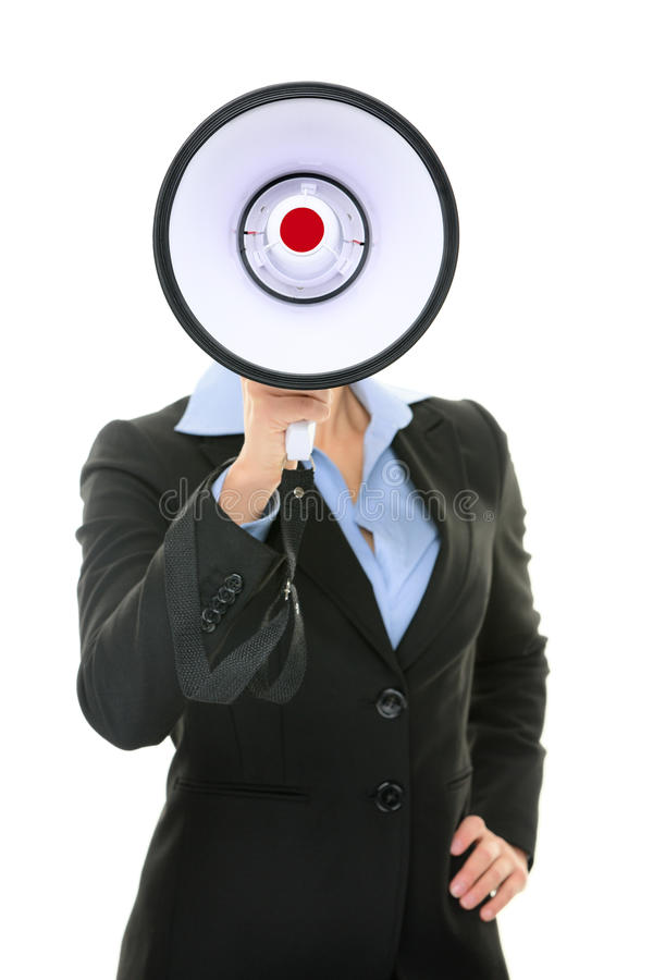 Megaphone business person concept stock image