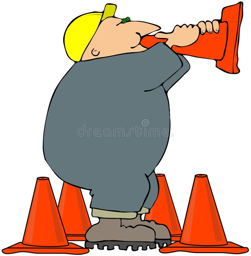 Megaphone Cone royalty free illustration