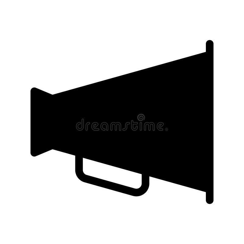 Megaphone glyph διανυσματικό εικονίδιο ελεύθερη απεικόνιση δικαιώματος
