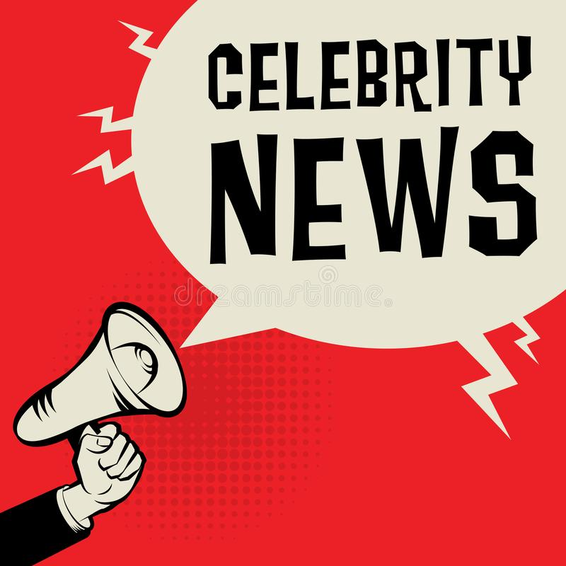 Megaphone Hand business concept with text Celebrity News royalty free illustration