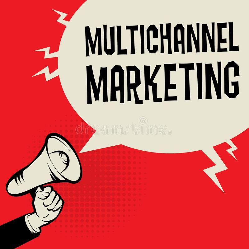 Multichannel Marketing business concept stock illustration