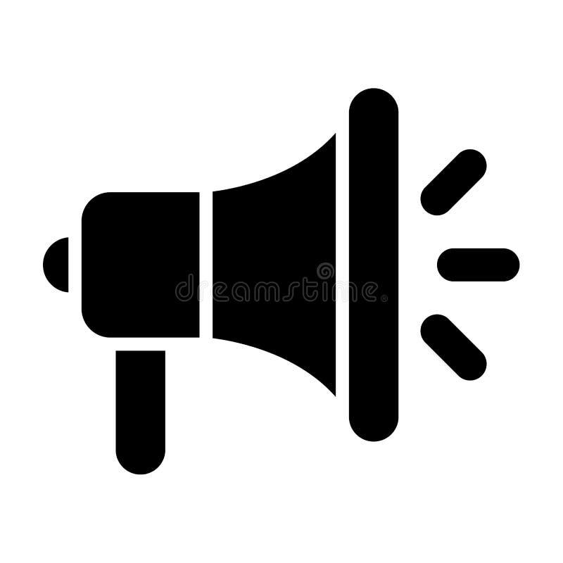 Megaphone icon black vector illustration