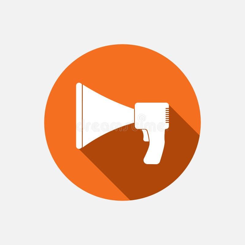 Megaphone icon flat design on the orange background stock vector download megaphone icon flat design on the orange background stock vector illustration of bullhorn publicscrutiny Gallery