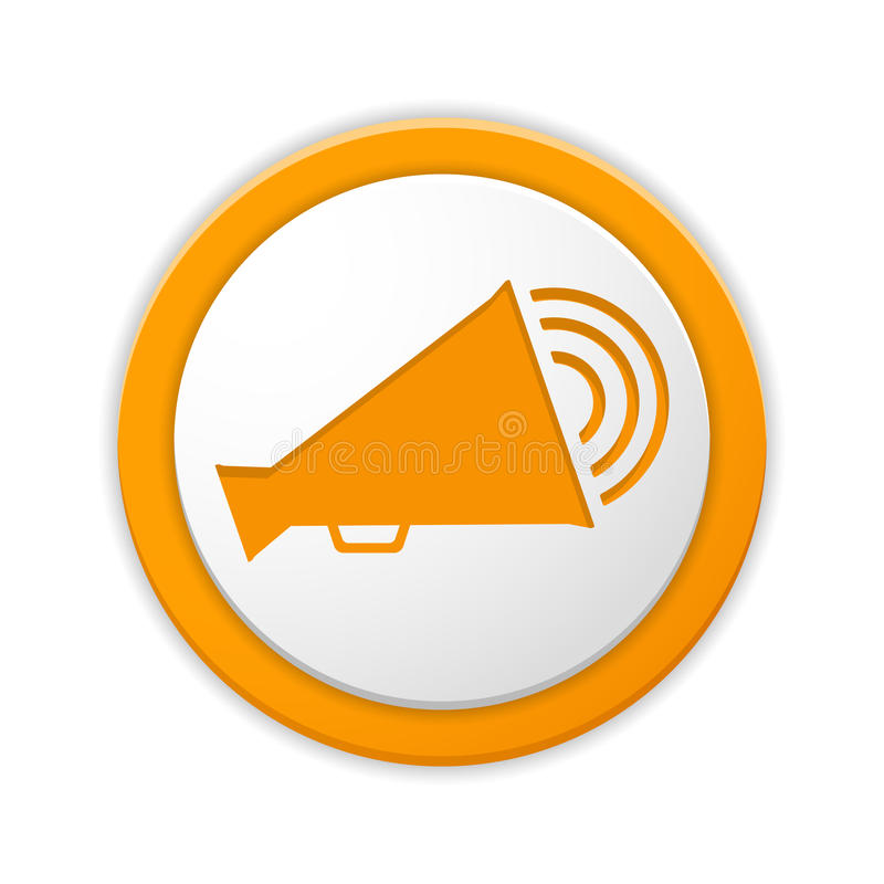 Megaphone icon stock vector illustration of round icon 45678699 orange round button with megaphone icon publicscrutiny Gallery