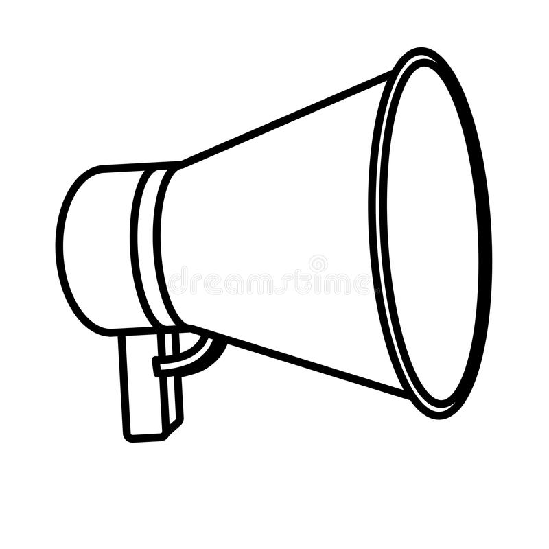 Megaphone isolated icon design royalty free illustration