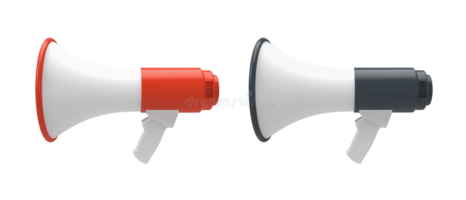 Megaphone isolated on a white. vector illustration