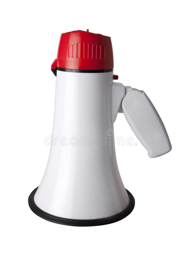 Megaphone or loudspeaker. Megaphone or loudhaler isolated on a white background stock image
