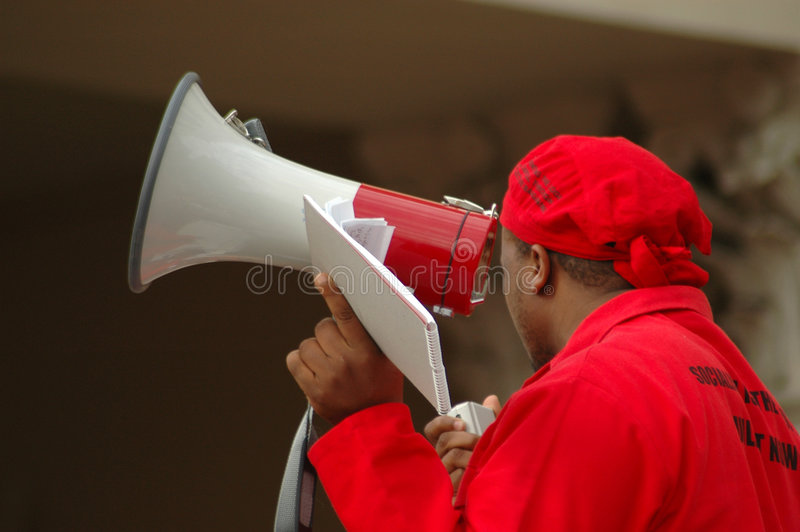 Download Megaphone man editorial photography. Image of black, african - 2553727