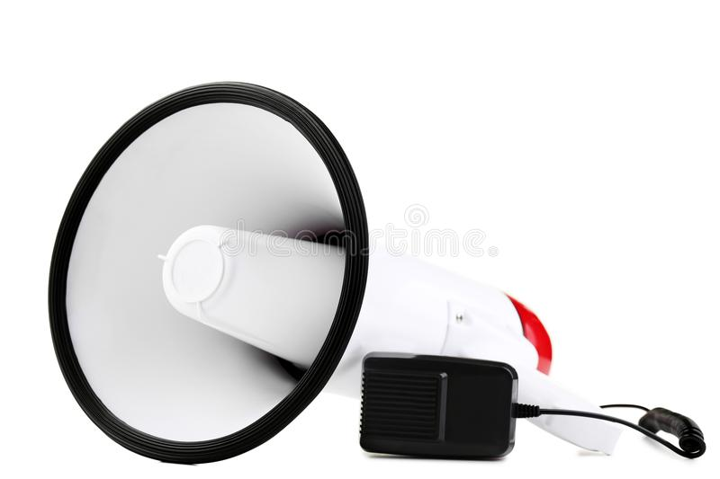 Megaphone. Isolated on a white background stock photos