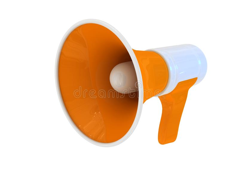 Download Megaphone Over White Background Stock Illustration - Illustration of background, media: 15481416