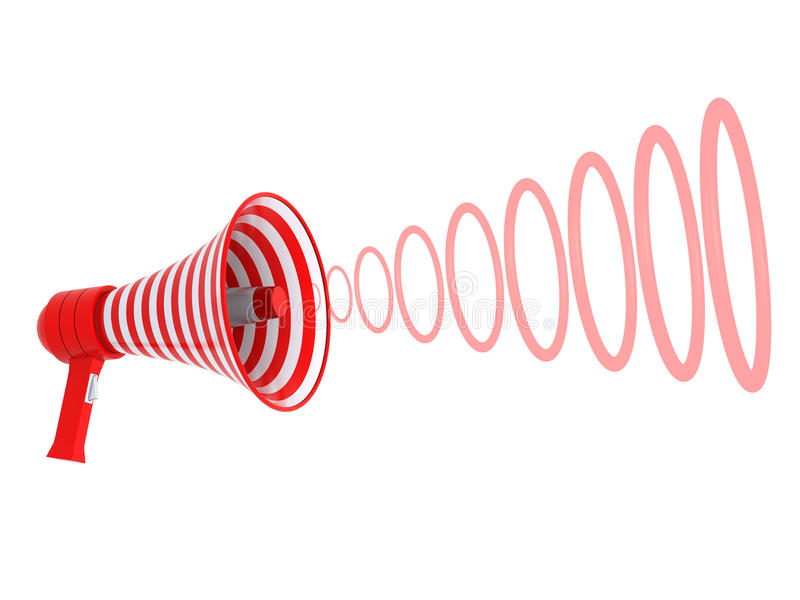 Download Megaphone and red rings stock illustration. Illustration of isolated - 13710310