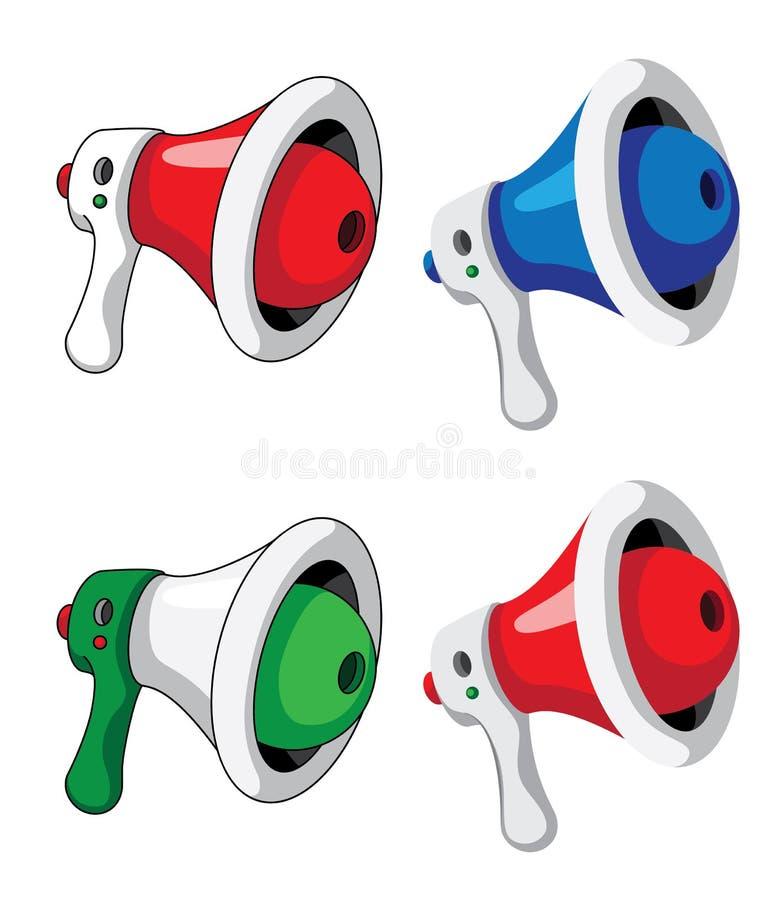 Download Megaphone set stock vector. Image of speaker, megaphone - 27745519